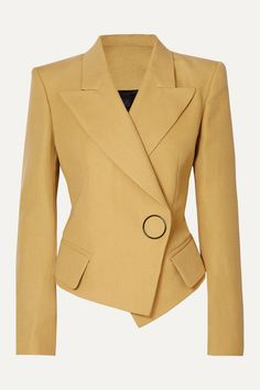 Petar Petrov - Double-breasted Grain De Poudre Wool And Silk-blend Blazer - Beige Source by netaporter Look Blazer, Casual Blazer, Blazer Outfits, Blazer Fashion, Blazer Beige, Sleevless Blazer, Emo Outfits, Summer Outfits, Dame Chic