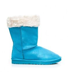 5803e195851 Modré snehule s bielym kožúškom