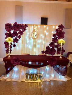 Diy Wedding Backdrop Head Table Decor Ideas For 2019 Wedding Sets, Trendy Wedding, Wedding Table, Fall Wedding, Wedding Colors, Diy Wedding, Dream Wedding, Altar Wedding, Wedding Arches