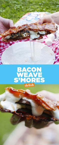 Bacon-Weave S'mores  - Delish.com
