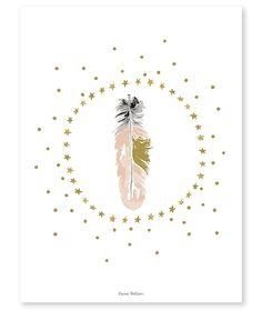 <h3>Affiche romantique plume</h3><p><strong>Affiche d