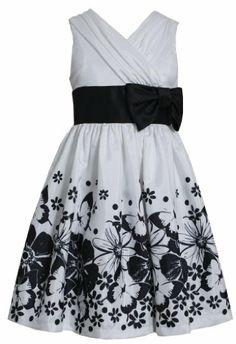* TWEEN GIRL DRESS * Butterly Floral Border Cross Over Shantung Dress BW4MH, Black/White, Bonnie Jean Tween Girls Special Occasion Flower Girl Social Party Dress Bonnie Jean,http://www.amazon.com/dp/B00HTAYEE2/ref=cm_sw_r_pi_dp_UVF0sb04MT54NVJX