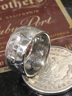 Handcrafted Morgan Silver Dollar Coin Ring Size 7-16 Wedding Band 90% Silver  | eBay