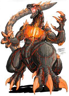 Godzilla Neo - Burning Godzilla by KaijuSamurai