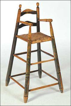 19th century splay leg high chair