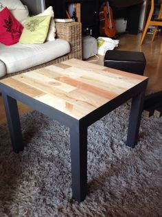 1000 images about id e customisation table basse on pinterest ikea lack t - Ikea table basse noir ...
