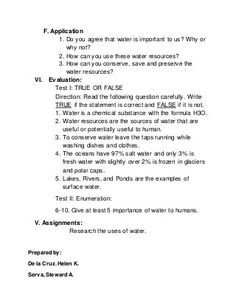 Lesson plan in philippines geography Philippines Geography, What Is Water, Cut Out Pictures, Importance Of Water, Water Resources, You Know Where, Group Activities, Water Conservation, Student Work