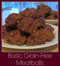 Basic Grain-Free Meatballs (low-carb)