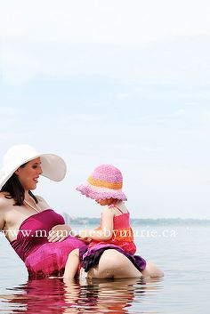 at the beach with mommy...