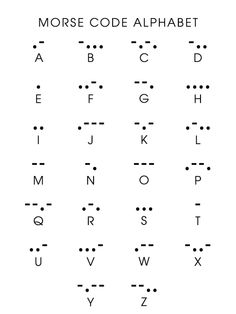 Morse Code  esto es para ti  mariana