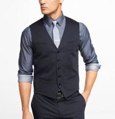 #groomsmen suit vest and tie combination www.express.com