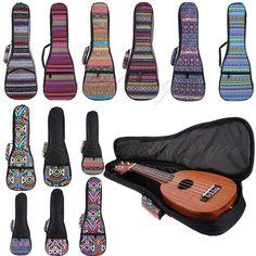 Fashion Folk Style Hawaii Guitar Ukulele Carrying Bag Backpack Case 21 23 26