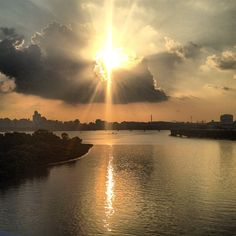 Sunset at the Han river - Seoul, Korea ♥
