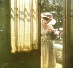 Jacques Henri Lartigue (French, 1894-1986). Bibi, Nice. 1920. Autochrome.