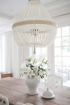 Beaded chandeliers invaluable lighting lessons chandeliers this is an interesting chandelier dining room lighting is ro sham beaux orbit white milk beads mozeypictures Images
