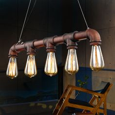Goedkope Retro Industrial Edison Bulbs 5 Heads Pendant Light Iron Water Pipe Copper Color Dining Room/Bedside Cafe Shore Decor Drop Lamp, koop Kwaliteit hanglampen rechtstreeks van Leveranciers van China: Click its picture if you like the lamp! Descriptions:• 100% brand new and high quality with competitive pri