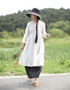 Silk cotton shirt dress