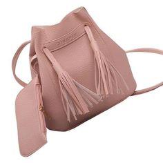 Xiniu women bags set 2 pcs Tassels Leather Shoulder Crossbody Bag Clutch bag  bolsa feminina   98bf718e7bb5