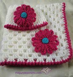 Sweet little blanket & hat