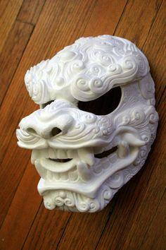 Komainu no Kumo DIY Blank Mask by Mostlymade on Etsy