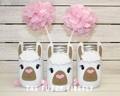 Your place to buy and sell all things handmade - Original Llama mason Jar CenterpieceLlama Love Party First Birthday Parties, Birthday Party Themes, First Birthdays, Birthday Party Centerpieces, Mason Jar Centerpieces, Llama Birthday, Girl Birthday, Easy Easter Crafts, Crafts For Kids