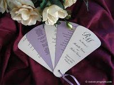 wedding program fans diy - Google Search