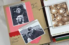 What to do, oh what to do with all the cards that come during the holidays. Love this idea for saving each year's Christmas cards. Directions and more photos are on her blog.