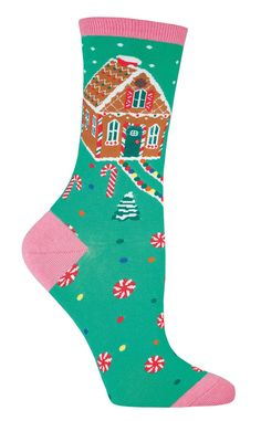 Gingerbread House Socks