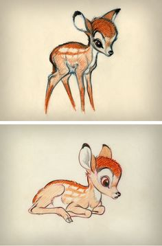 concept art ~ Bambi is the cutest little evarrrrrr Disney Pixar, Bambi Disney, Art Disney, Disney Concept Art, Disney Kunst, Disney And Dreamworks, Disney Love, Disney Sketches, Disney Drawings