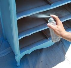 How to spray paint furniture.