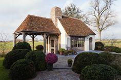 Aalter van Bouw-iD Small Buildings, Garden Buildings, Garden Structures, Beautiful Buildings, Outside Living, Outdoor Living, Belgian Style, Cottage Farmhouse, Patio