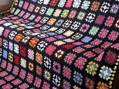 The Big Bang Theory Crochet Granny Square Blanket by Thesunroomuk