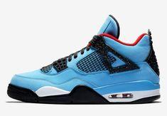 separation shoes 3d0a1 3d306 Travis Scott x Air Jordan 4 Houston Oilers Color  University Blue Varsity  Red-