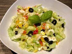 Fit sałatka z kaszą kuskus i jajkiem - Blog z apetytem Chimichanga, Guacamole, Potato Salad, Grains, Salads, Rice, Lunch, Healthy Recipes, Chicken