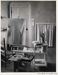 Georgia O'Keeffe's Studio at the Ghost Ranch, New Mexico / Todd Webb /  1962