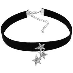 Black Rhinestoned Star Choker Necklace ($4.60) ❤ liked on Polyvore featuring jewelry, necklaces, star jewelry, choker necklace, star necklace, rhinestone choker and choker jewellery