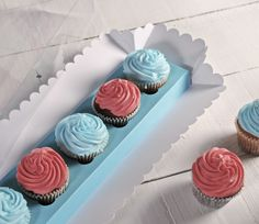 Image result for 5 cup cakes in a row