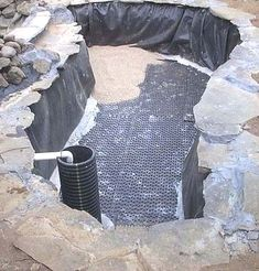 Planning & Ideas : Koi Pond Construction Plans How To Build A Koi Pond' Small Garden Pond' Pond Cleaning Services or Right Time' Pond Builders' Planning & Ideas - Home Improvement and Remodeling Ideas Outdoor Ponds, Ponds Backyard, Koi Ponds, Garden Ponds, Outdoor Fountains, Backyard Waterfalls, Koi Pond Design, Fountain Design, Garden Pond Design