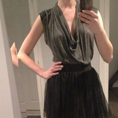 Zara top Very soft cotton blend cowl neck top with faux leather patches on the shoulders. Looks great tucked in or worn over jeans/leggings (long and covers the tush!). No trades no PayPal. Bundle for 10% off. Zara Tops