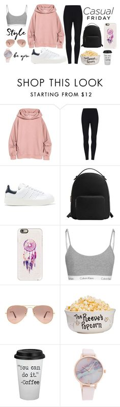 """""""Casual Friday"""" by dakota4-1 on Polyvore featuring adidas Originals, MANGO, Casetify and Ray-Ban"""
