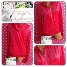New M Victoria Secret Velour Hoodie Lounge Jacket Love Red Angel Wing Zip Up | eBay
