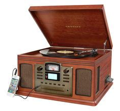 Director CD Recorder w/ Cassette Player in Paprika design by Crosley