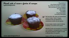 Piccoli cake al cacao e farina di semi di canapa