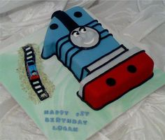 Thomas The Tank Engine No. 1 Birthday Cake Thomas the Tank Engine cake, client asked for a Number one it was my idea to make it look like. 1st Birthday Cakes, Baby 1st Birthday, Birthday Bash, Birthday Parties, Boys 1st Birthday Party Ideas, Birthday Decorations, Thomas Cakes, That Way, First Birthdays