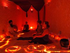 Halo Yoga in our Himalayan Salt Cave Asheville at The Salt Spa of Asheville. Halo Yoga is a fusion of Yoga practice and Salt Therapy (Halotherapy)