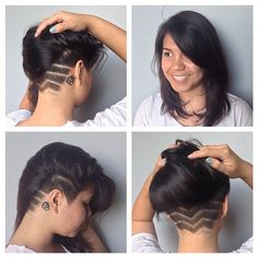 undercut with design