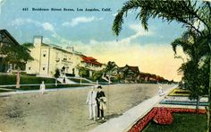 Early 1900's Los Angeles postcard. Hagins collection.
