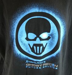 Ghost Recon Future Soldier T-Shirt Men's XL Black Tom Clancy Extra Large Adult