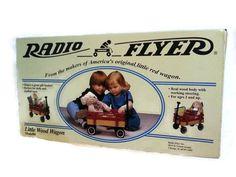 Radio Flyer Little Wood Wagon Model #6 Pull Toy 1996 NIB #RadioFlyer #vintage #littleredwoodwagon #LYLACS_4U