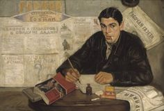 """ Correspondent."" Painting by Victor Perelman. 1925."